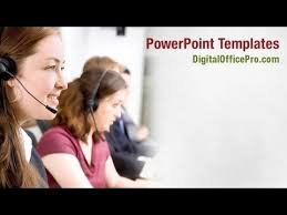 customer service representative powerpoint template backgrounds