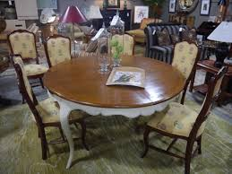 Antique Round Dining Table And Chairs Home And Furniture Consignment Portland Seams To Fit Home