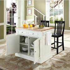 white kitchen island with butcher block top crosley furniture butcher block top kitchen island with stools in