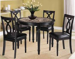 Breakfast Tables Sets Fabulous Black Table And Chairs Set Alluring Black Dining Room