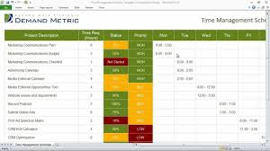 time management weekly planner template time management schedule template youtube