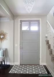 door is whipped mint by behr and walls are cream in my coffee by