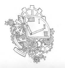 super in love with this clock tattoo idea love the gears and best