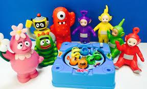 teletubbies yo gabba gabba toys fishing game
