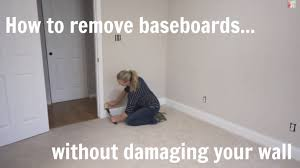 how to remove baseboard without damaging your wall or moulding