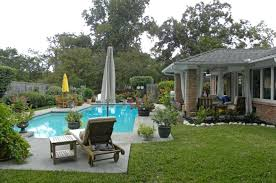 Inground Pool Landscaping Ideas Backyard Landscape Design With Pools Small Backyard With Plunge