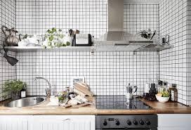 scandinavian style kitchen with cubes white backsplash adorable