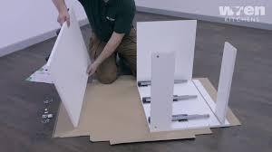 how to fit wren kitchen base units wren kitchens vogue 600mm 3 drawer base unit assembly