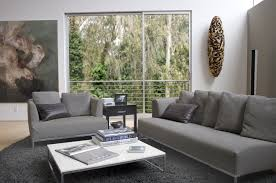 interior awesome gray living room modern sofas with low white