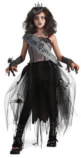 prom queen gothic scary zombie vampire fancy dress halloween child