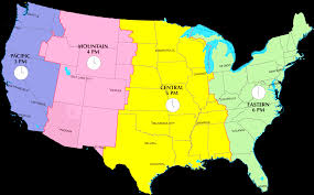 usa map with time zones and cities map of usa with states and timezones