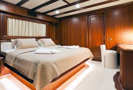 Yacht Bedroom by Yacht Regina Featured In James Bond Movie Skyfall Luxury