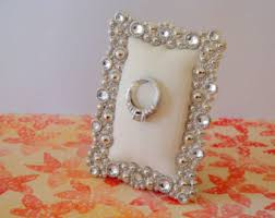 wedding ring holder wedding ring holder rectangle faux diamond silver frame