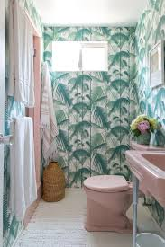 inspired bathroom a golden inspired bathroom palm print and vintage pink