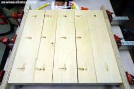 diy chunky solid wood retro nightstand