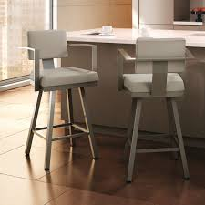 Comfortable Bar Stools Brown Wooden Stool With Arm Rest And Bars On The Back Feat Foot
