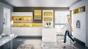 kitchen yellow accent open kitchen shelves nice white sleek nice yellow accent open kitchen shelves nice white sleek nice modern cabinet nice solid surface countertop acrylic barstool ceramic tile flooring remodel kitchen