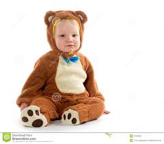 18 month old boy halloween costumes baby boy in bear costume stock image image 34253391