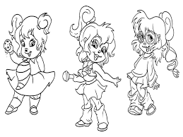 alvin and the chipmunks chipettes coloring pages throughout eson me