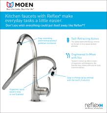 moen brantford single handle pull down sprayer kitchen faucet with moen reflex self retraction technology