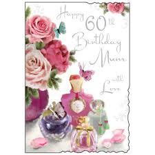 60 Birthday Cards Mum 60th Birthday Card Karenza Paperie