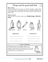 1st grade 2nd grade kindergarten science worksheets drugs can