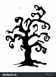 halloween silhouette clipart halloween gnarled trees silhouette clipart collection