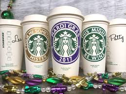 mardi gras cups starbucks cup mardi gras cup personalized coffee cup coffee