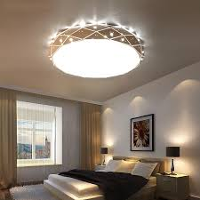 Led Bedroom White Round Ceiling - aliexpress com buy lican white round led ceiling chandelier for