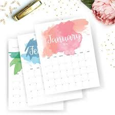 printable calendar 2016 etsy 45 best printable calendars and organizers images on pinterest