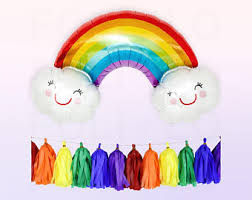 Rainbow Party Decorations Rainbow Party Etsy