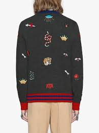 s wool sweaters gucci wool sweater with embroideries 1 750 shop aw17