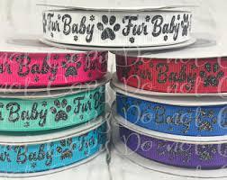 dog ribbon ribbon dog collar etsy