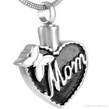 cheap cremation ijd8555 bowknot heart cremation funeral urn necklace memorial