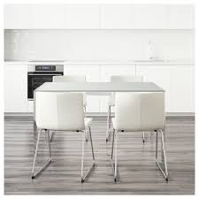 torsby bernhard table and 4 chairs glass white kavat white 135 cm