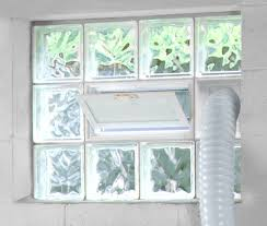 Basement Window Dryer Vent by Glass Block Windows Dayton Glass Block