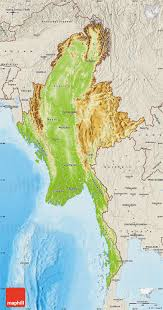 Physical Maps Physical Map Of Burma Shaded Relief Outside