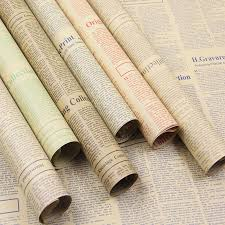 sided wrapping paper 20sheets lot gift wrapping paper roll vintage newspaper