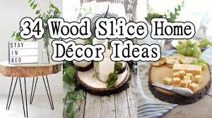 34 wood slice home décor ideas youtube