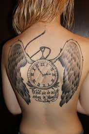 creative tattoos clock tattoos
