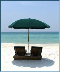 Beach Umbrella And Chairs Dazzling Ocean Front View Directly On Beac Vrbo