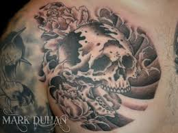 for unique tattoos skull chest plate