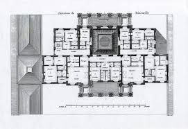 chateau de benouville second floor plan architectural plans