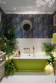 Wallpapered Bathrooms Ideas Best 25 Tropical Bathroom Ideas On Pinterest Tropical Bathroom