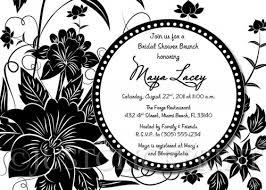 black and white invitations black white floral bridal shower or birthday invitation