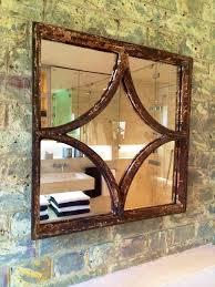Window Mirror Decor decorative square rustic window mirror rustic square anique unique