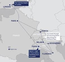 Swiss Alps Map Via The Alps Category Railbookers