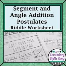 angle addition postulate riddle worksheet geometry angles
