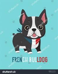 Boston Terrier Flag Dog Breed French Bulldog Puppy Bandage Stock Vector 720083869