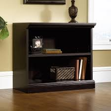 sauder select estate black 2 shelf bookcase 412175